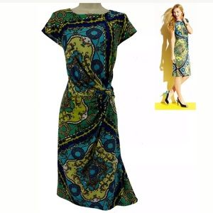 Size 12 NWT▪️CLASSY CHAIN PRINT TWIST-WAIST DRESS